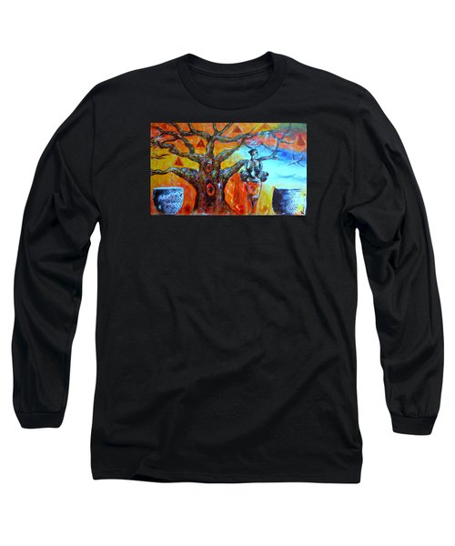 Long Sleeve T-Shirt featuring the painting Jeanilia by Fania Simon