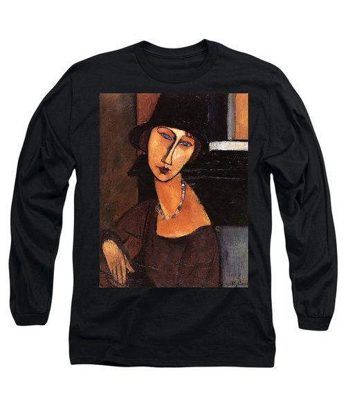 Jeanne Hebuterne With Hat And Necklace Long Sleeve T-Shirt