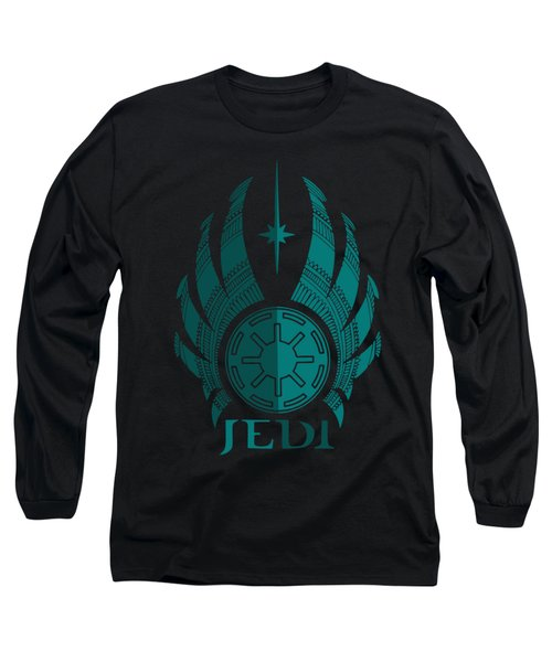 Jedi Symbol - Star Wars Art, Blue Long Sleeve T-Shirt