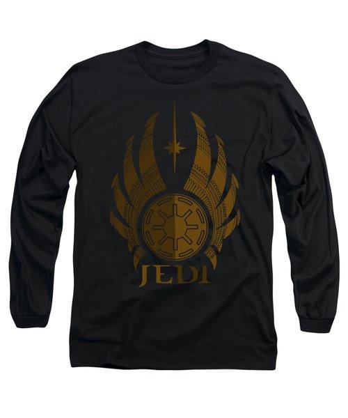 Jedi Symbol - Star Wars Art, Brown Long Sleeve T-Shirt