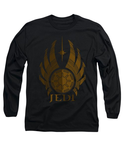 Jedi Symbol - Star Wars Art, Brown Long Sleeve T-Shirt