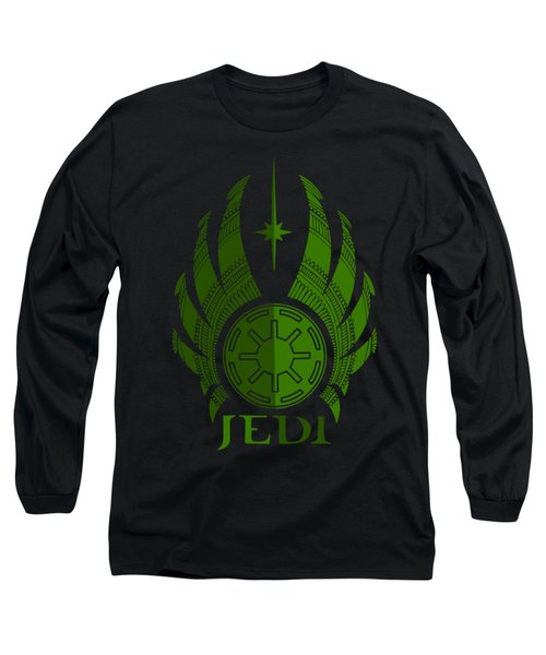 Jedi Symbol - Star Wars Art, Green Long Sleeve T-Shirt