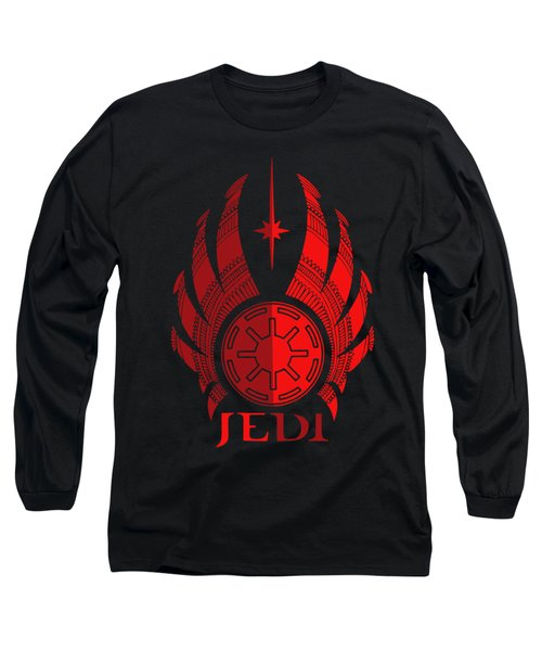 Jedi Symbol - Star Wars Art, Red Long Sleeve T-Shirt