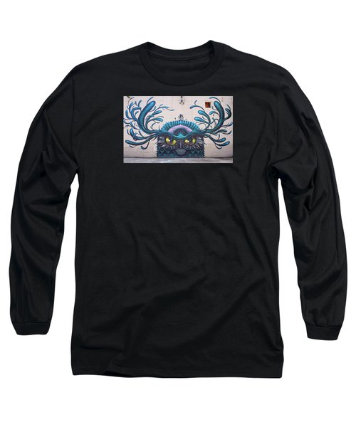 Jeff Soto Mural Long Sleeve T-Shirt by Jean Haynes