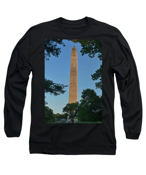 Long Sleeve T-Shirt featuring the photograph Jefferson Davis Monument - Fairview Kentucky 001 by George Bostian