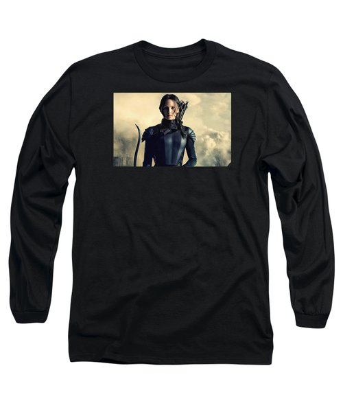 Jennifer Lawrence The Hunger Games  2012 Publicity Photo Long Sleeve T-Shirt