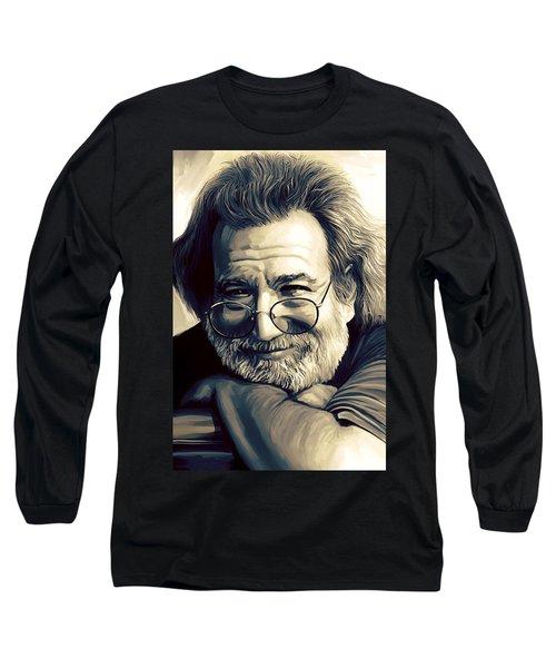 Jerry Garcia Artwork  Long Sleeve T-Shirt