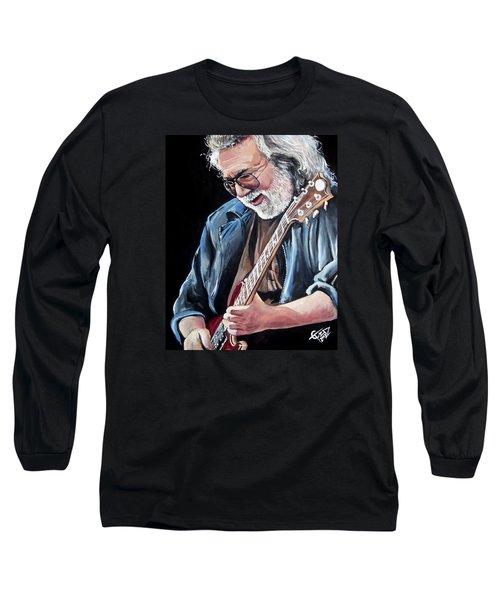 Jerry Garcia - The Grateful Dead Long Sleeve T-Shirt by Tom Carlton