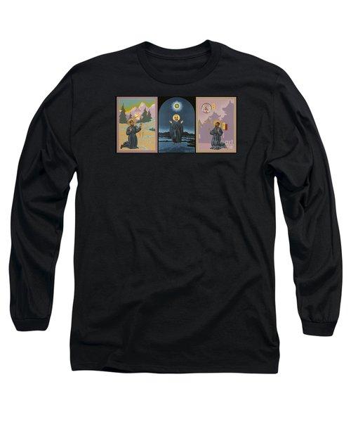 Jesuit Triptych-st Peter Faber-st Ignatius-st Francis Xavier Long Sleeve T-Shirt