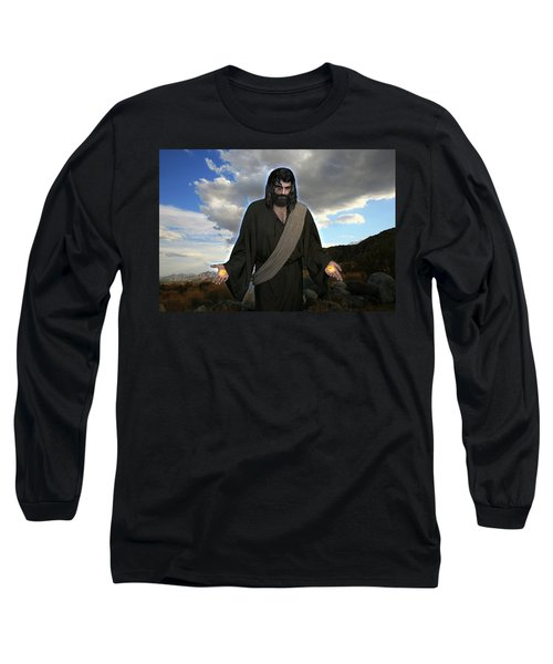 Jesus Christ- And He Withdrew Himself Into The Wilderness And Prayed Long Sleeve T-Shirt