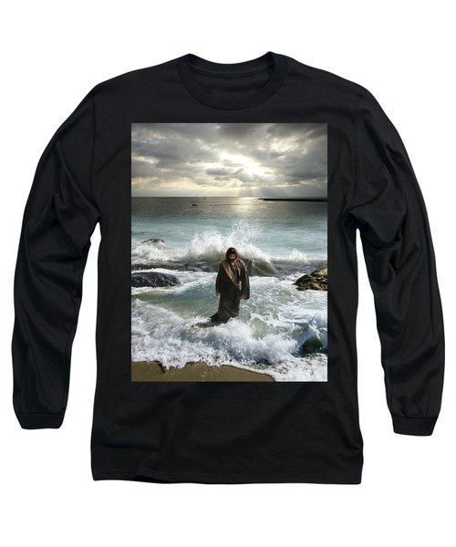 Jesus Christ- I Have Come As A Light Into The World Long Sleeve T-Shirt