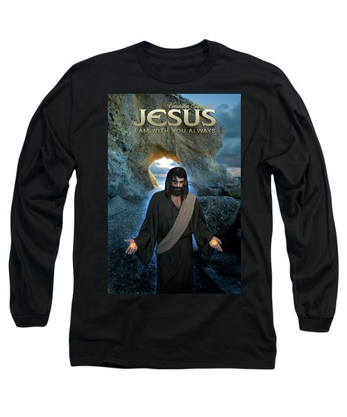 Jesus- I Am With You Always Long Sleeve T-Shirt