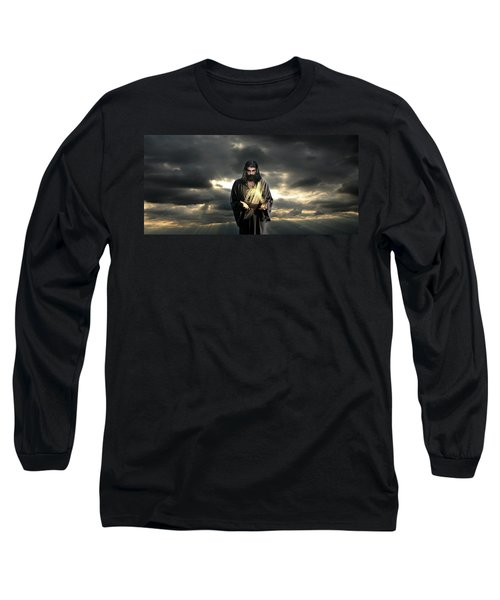 Jesus In The Clouds Long Sleeve T-Shirt