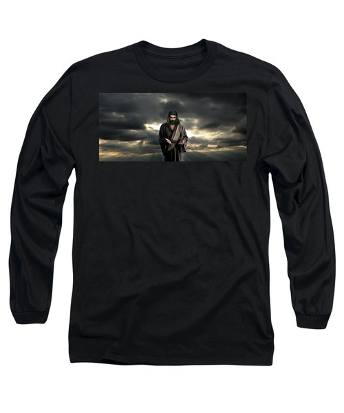 Jesus In The Clouds With Glory Long Sleeve T-Shirt
