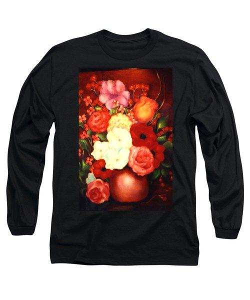 Jewel Flowers Long Sleeve T-Shirt