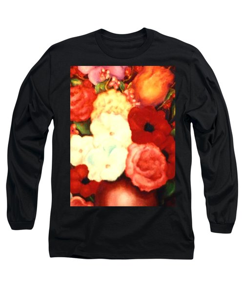 Jewel Flowers Long Sleeve T-Shirt