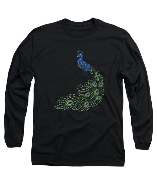 Jeweled Peacock Long Sleeve T-Shirt