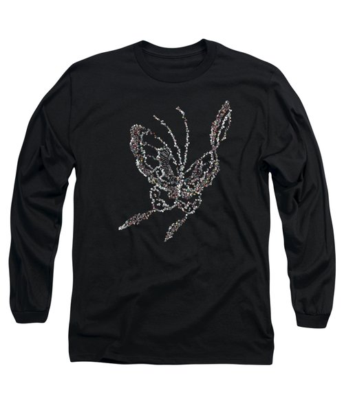 Jewelled Butterfly Long Sleeve T-Shirt
