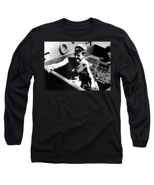 Jfk On Pt 109 Painting Long Sleeve T-Shirt