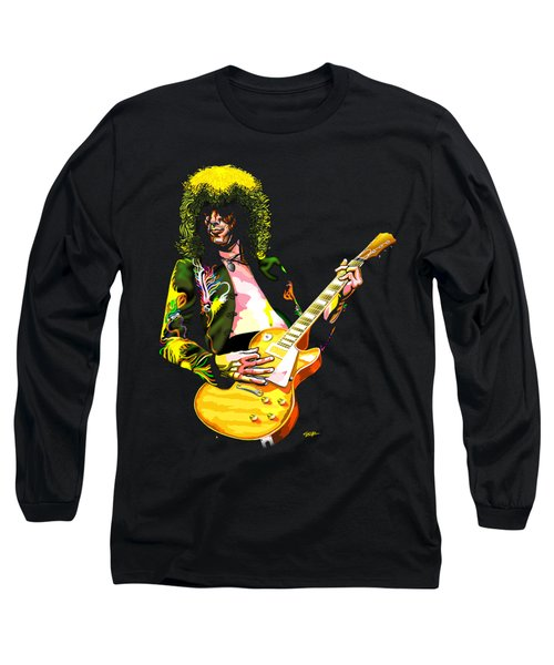 Jimmy Page Of Led Zeppelin Long Sleeve T-Shirt