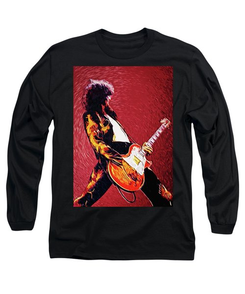 Jimmy Page  Long Sleeve T-Shirt by Taylan Apukovska