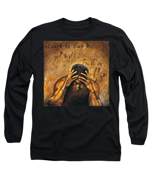 Long Sleeve T-Shirt featuring the painting Job by Christopher Marion Thomas