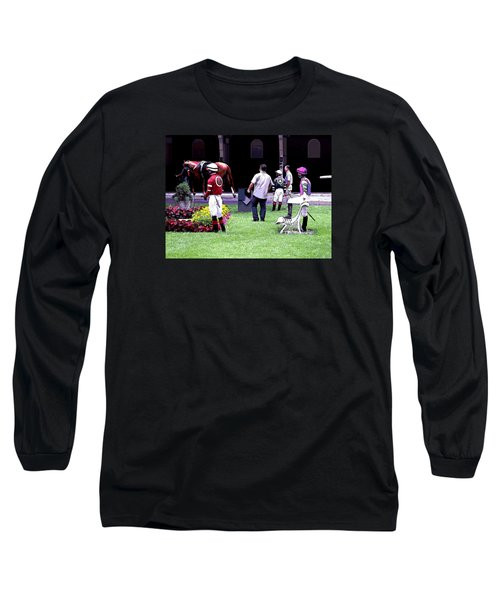 Long Sleeve T-Shirt featuring the digital art Jockeys Painting by  Newwwman
