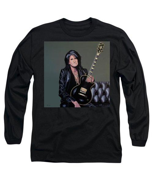 Joe Perry Of Aerosmith Painting Long Sleeve T-Shirt