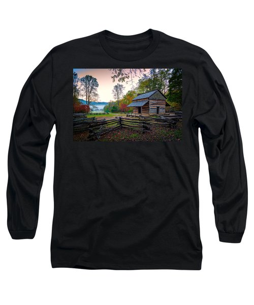 John Oliver Place In Cades Cove Long Sleeve T-Shirt