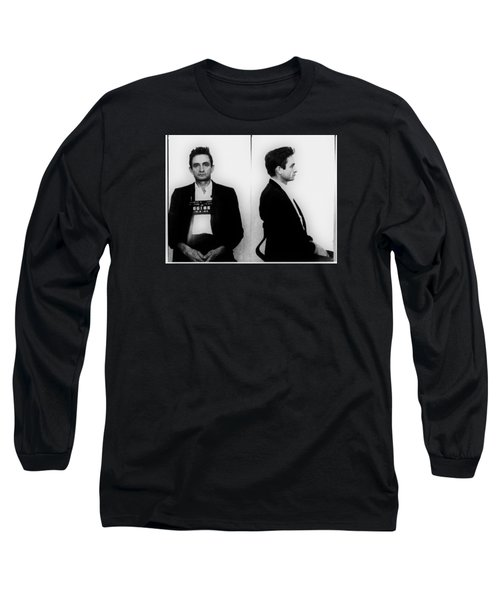 Johnny Cash Mug Shot Horizontal Long Sleeve T-Shirt