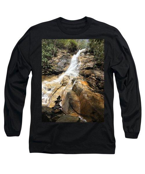 Jones Gap Falls And Monument Long Sleeve T-Shirt