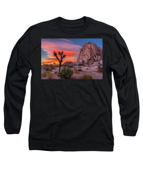 Joshua Tree Sunset Long Sleeve T-Shirt by Peter Tellone