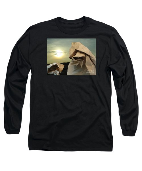 Long Sleeve T-Shirt featuring the digital art Journey Within by Lyric Lucas