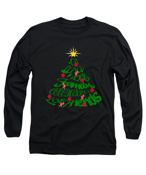 Joy Of Christmas Tree Long Sleeve T-Shirt