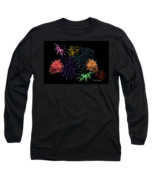 July Fireworks Montage Long Sleeve T-Shirt