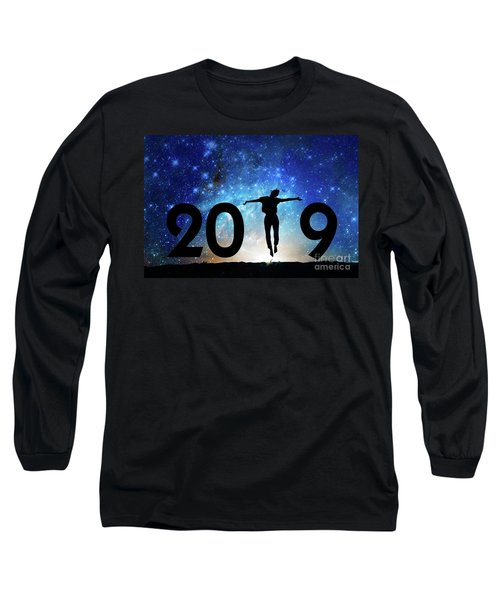 Jump New Year Card Long Sleeve T-Shirt