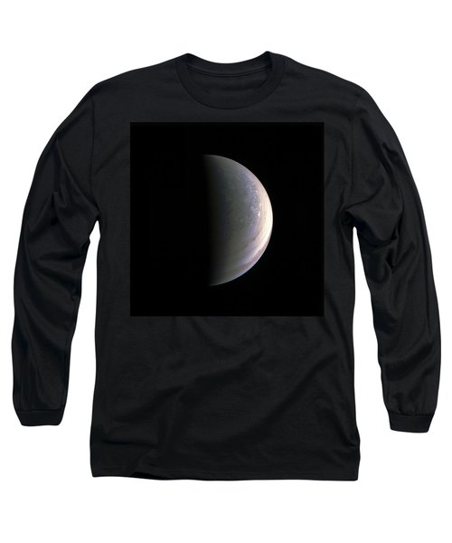 Long Sleeve T-Shirt featuring the photograph Juno Closing In On Jupiter's North Pole by Nasa
