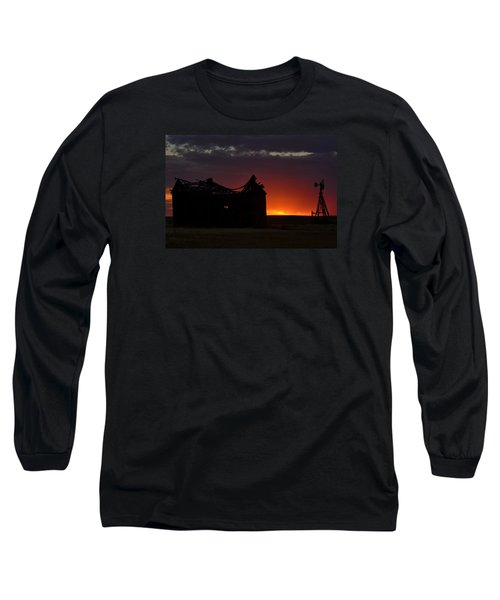 Just Before Sunrise Long Sleeve T-Shirt by Clarice  Lakota