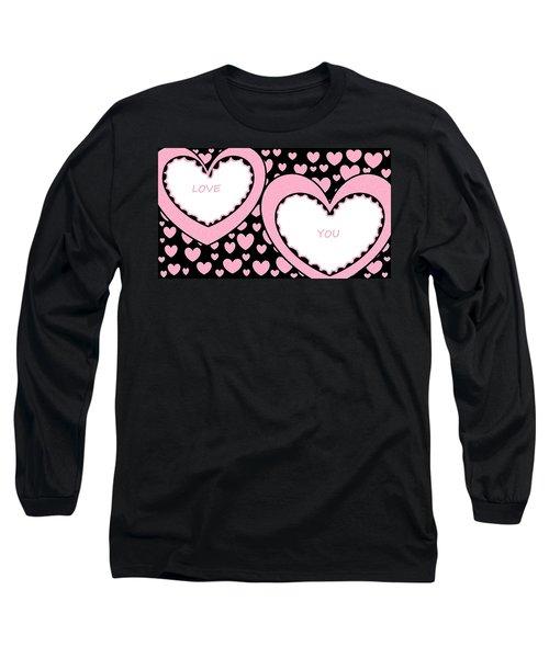 Just Hearts 2 Long Sleeve T-Shirt by Linda Velasquez