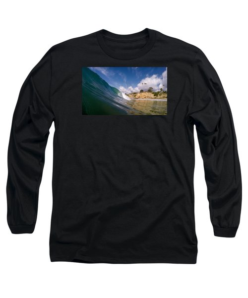 Just Me And The Waves Long Sleeve T-Shirt by Sean Foster