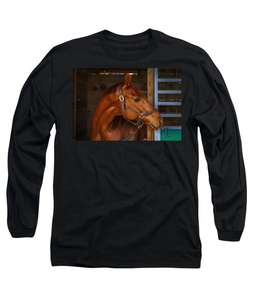 Just Waiting For My Turn To Race Long Sleeve T-Shirt by Robert L Jackson