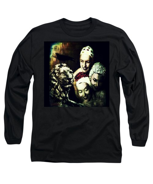 Long Sleeve T-Shirt featuring the digital art Just Washed My Hair by Delight Worthyn