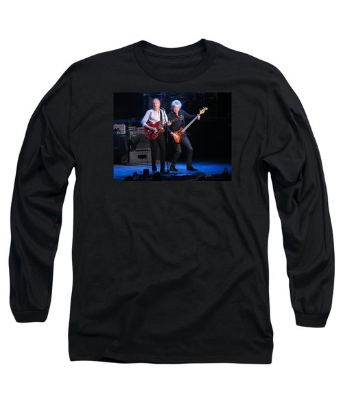 Long Sleeve T-Shirt featuring the photograph Justin And John In Concert 2 by Melinda Saminski