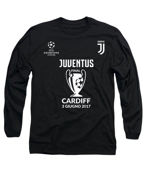 Juventus Final Champions League Cardiff 2017 Long Sleeve T-Shirt by Ipoy Juki