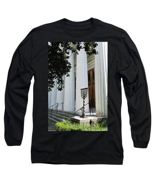 Kahal Kadosh Beth Elohim Long Sleeve T-Shirt by Ed Waldrop