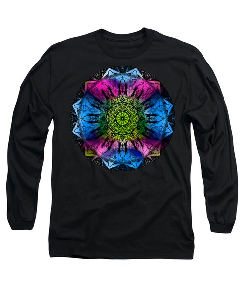 Kaleidoscope - Colorful Long Sleeve T-Shirt