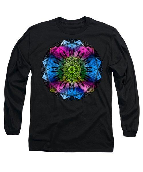 Kaleidoscope - Colorful Long Sleeve T-Shirt