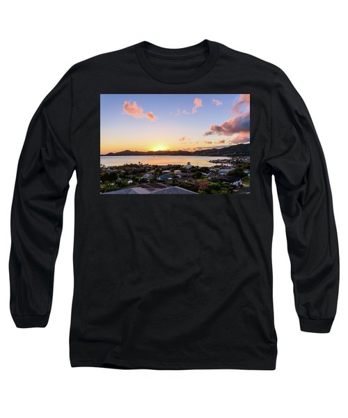 Kaneohe Bay Sunrise 1 Long Sleeve T-Shirt