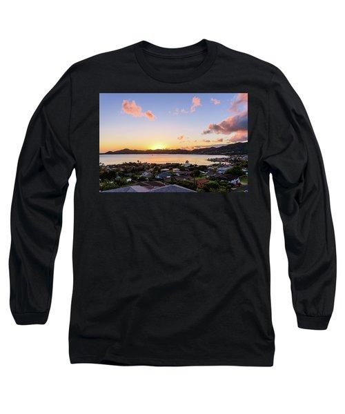 Kaneohe Bay Sunrise 1 Long Sleeve T-Shirt
