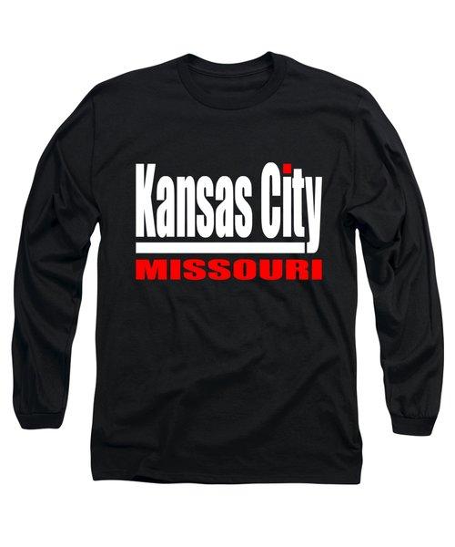 Kansas City Missouri - Tshirt Design Long Sleeve T-Shirt by Art America Gallery Peter Potter